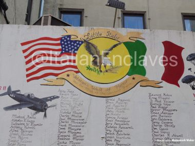 A closer look at the artwork in this memorial.