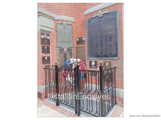 The memorial in Baltimore's St. Leo's Church