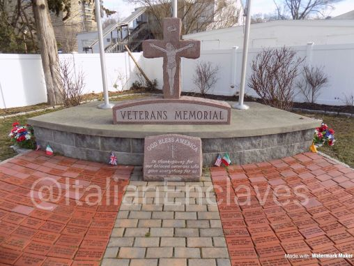 The Veterans Memorial in Bridgeport Connecticut at the Shrine of Saint Margaret. Established and built by Italian Immigrants. This memorial honors their fallen.