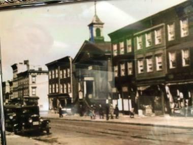 A look down Graham Avenue at the Society Hall Circa 1930