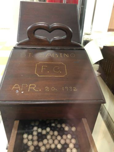 The box in which the voting balls were placed.